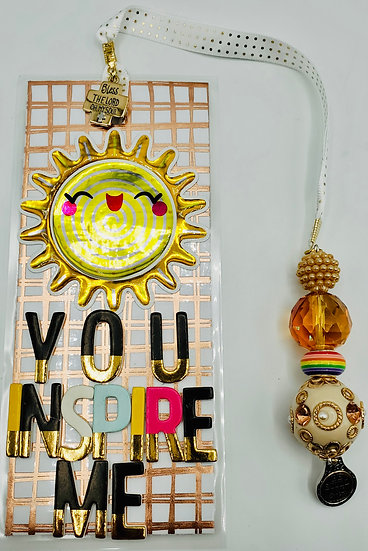 You Inspire Me To Shine Inspirational Bookmark Gift/Be Still And Know/Psalm 103