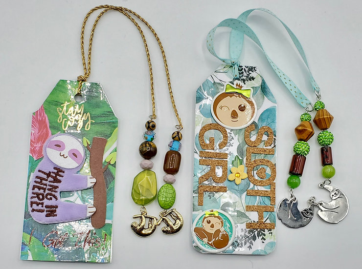 2 Sloth Bookmarks/Nap Queen Sloth Bookmark/Don't Hurry Be Nappy