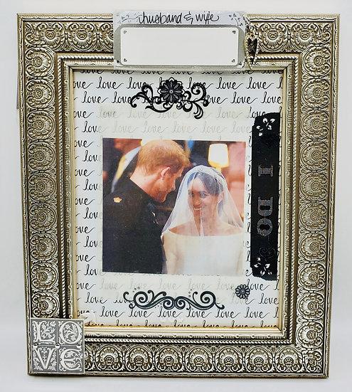 Wedding - Husband and Wife/I Do Scrapbooking Framed Design Gift