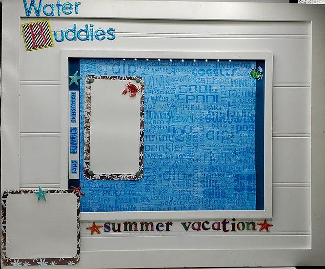 Spring Break/Summer Vacation/Water Buddies Scrapbooking Framed Design Gift