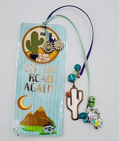 On The Road Again Llama  Lover Bookmark Gift/Camper Bookmark Gift