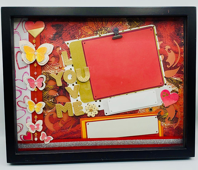 Love You Love Me Valentine's Day Scrap booking Gift Frame