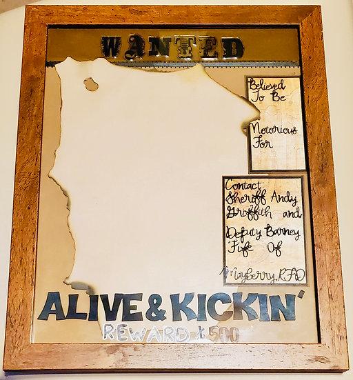 Wanted Alive & Kickin' Scrapbooking Framed Design Gift