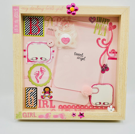 All Girl - My Darling Little Girl Sweet Angel Scrapbooking Framed Design Gift