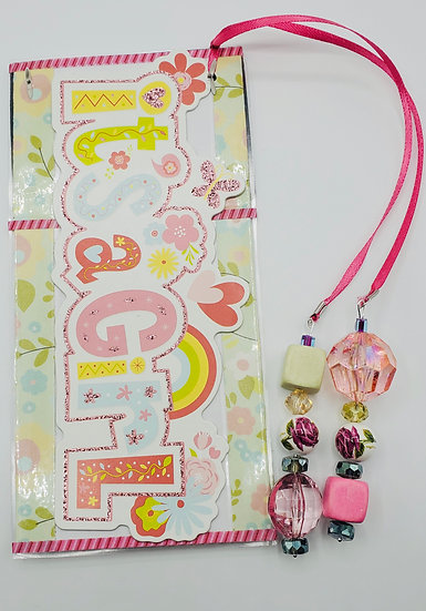 It's A Girl My Girl Bookmark Gift With Rubber Duck & Space For A Photo