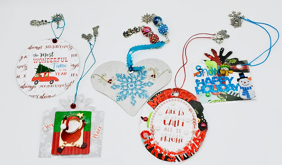 5 Gift Tags For Christmas: Wonderful Time of The Year/Snowmen/Penguins/Reindeer