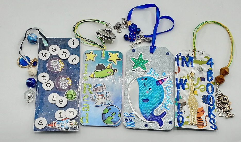 4 Kid's Bookmarks: Outer Space/I'm A Narwhal/I'm Wild 4 Books/I Read I Travel