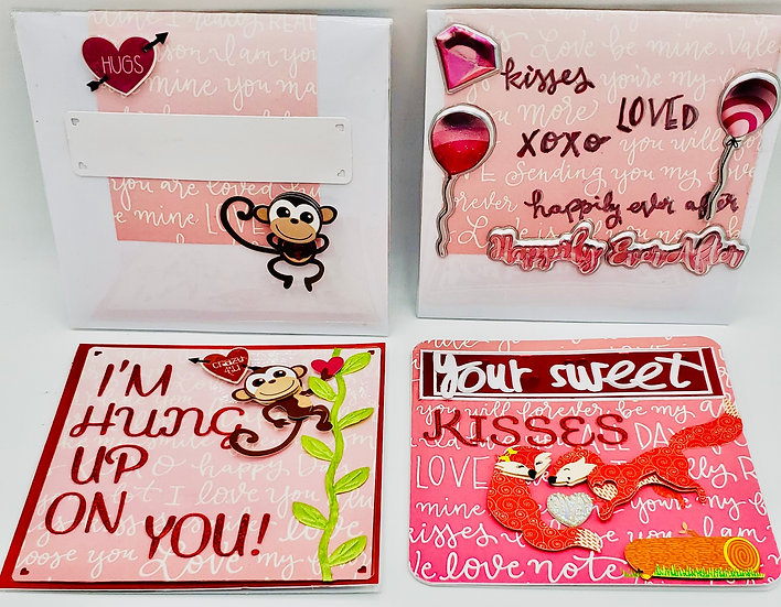 2 Animal Love Cards: Hung Up On You/Your Sweet Kisses Bring Happiness To My Lips