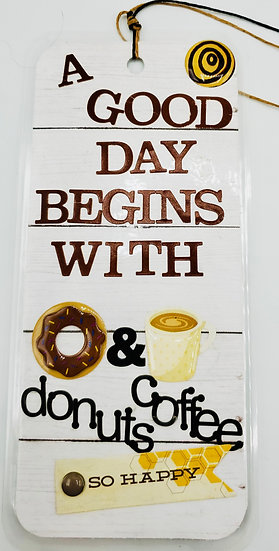 A Good Day Begins With Donuts & Coffee And Ends With Pizza & Beer Bookmark Gift