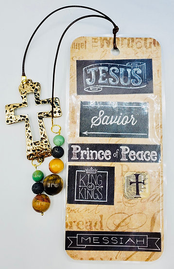 Jesus, Savior, Prince of Peace, King of Kings, Messiah Bookmark Gift For Male