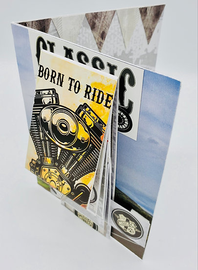 "Born to Ride Classic Motorcycle American Motors Supply Co. ""Waterfall Design"""