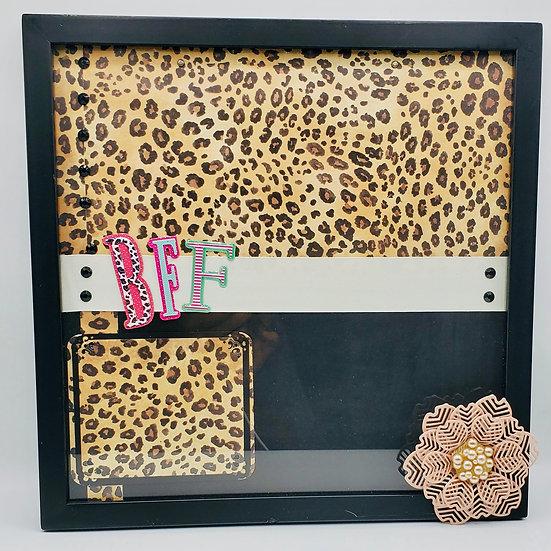 BFF (Best Friends Forever) Leopard Print Scrapbooking Framed Design Gift