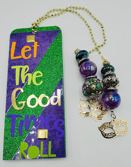 Let The Good Times Roll This Girl Likes To Pardi Bookmark Gift/Mardi Gras Gift