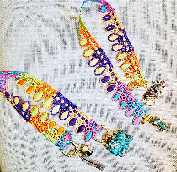 Multicolored 60's Style Bookmarks - Antique Patina Elephant & VW Van Gifts