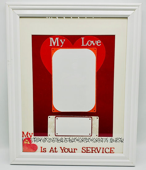 My Love My Heart Is At Your Service Scrapbooking Framed Design Gift/MilitaryGift
