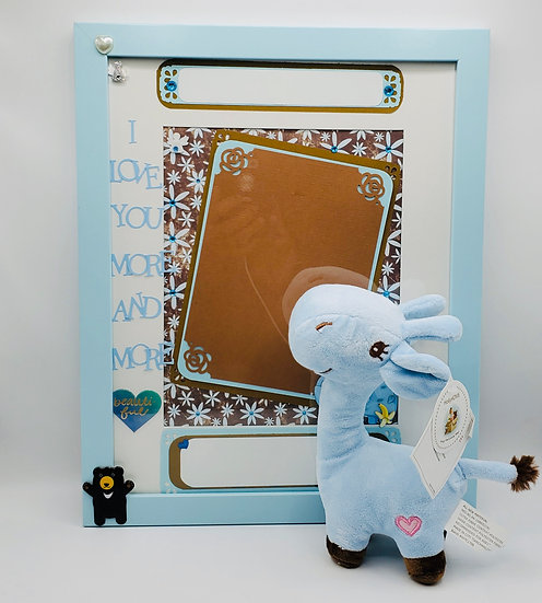 For Girl or Boy: I Love You More & More (Hippo) Scrapbooking Framed Design Gift
