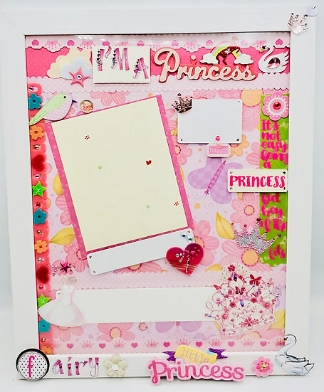 It's Not Easy Being a Princess, But If The Crown Fits Scrapbooking Framed Design