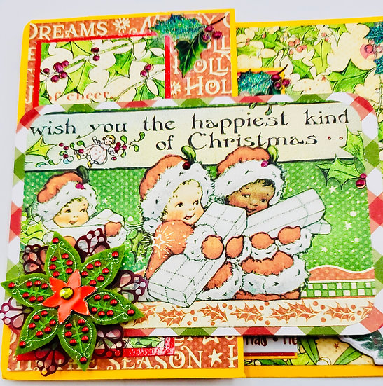 The (Family Name) Wish You The Happiest Kind Of Christmas Be Merry Z Fold Card