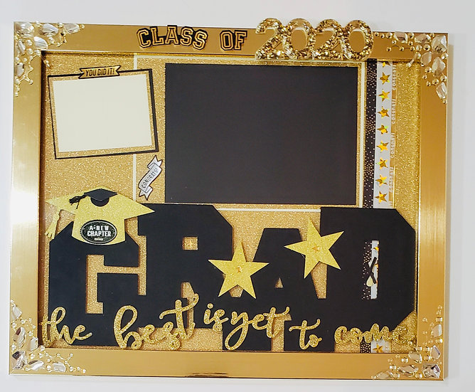 The Best Is Yet To Come Graduation 2020 Congratulations Scrapbooking Framed Gift