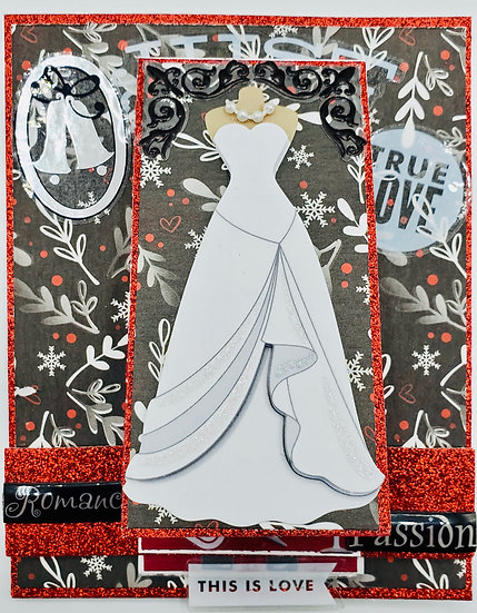 Just Married True Love Here Comes The Bride The Rings The Kiss & The Groom Card