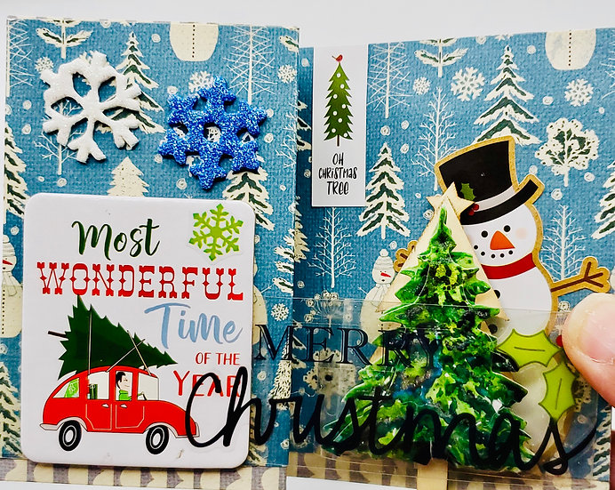 Most Wonderful Time Of The Year Merry Christmas Tree Farm Greeting Card