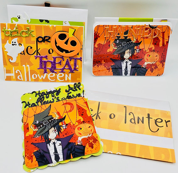 3 Halloween Cards: Haunted By Your Smile/Happy Hallow's Eve/Trick or Treat