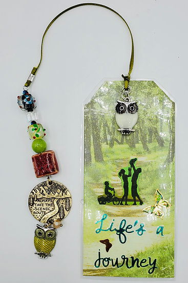 Life's A Journey Take The Road Less Traveled Family Camper Vacation Bookmark