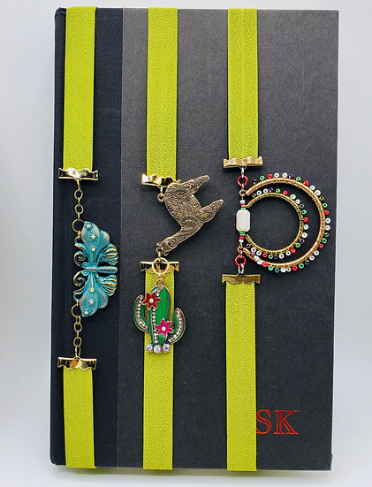 3 Stretchy Bookmarks: The Moth, The Llama and The Beaded Treasure Bookmark Gifts