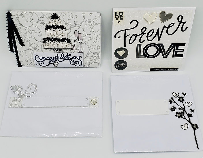 2 Rings Love Cards: Congratulations Happiness/Love Forever Love Wedding Cards
