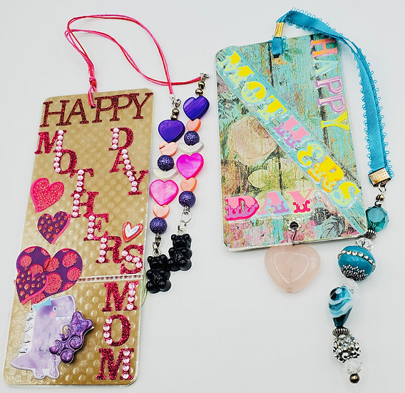 3 Mother's Day Bookmarks: Sweeter Than Gummy Bears/To My BFF/My 1st Teacher Gift