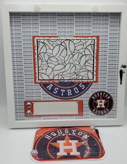 Houston Astros Baseball Gift Frame/Astros Baseball Scrap booking Gift Frame Desi