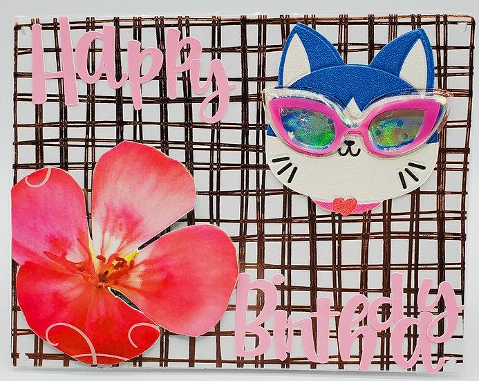 Happy Birthday To One Kool Kitty/Kat Greeting Card/Cat Lover Birthday Card