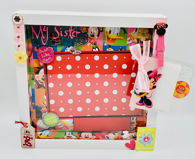 Minnie Mouse -My Sister Just Like Mom Scrapbooking Framed Design Gift