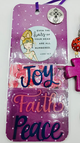 Joy Faith Peace Even The Hairs On Your Head Are Numbered Bookmark Gift