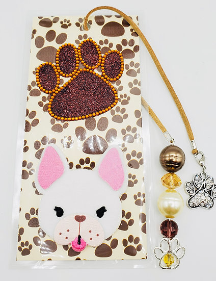 Talk To The Paw Bookmark Gift/French Bulldog Lover Bookmark Gift