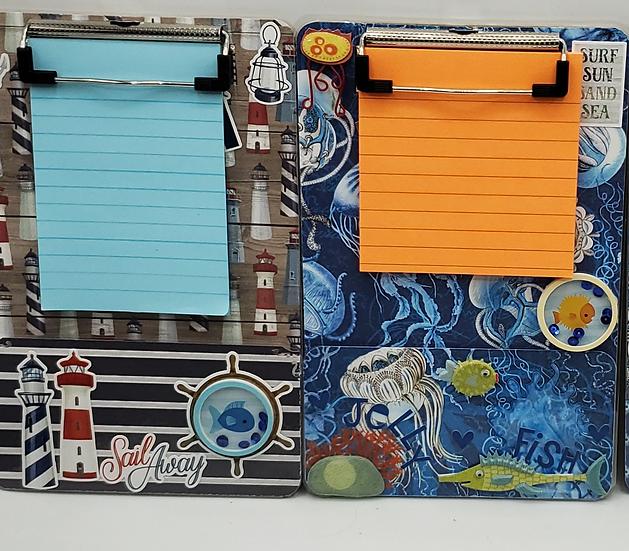 Marine Life Decorative Clipboards: Lighthouses/Float Like A Jellyfish