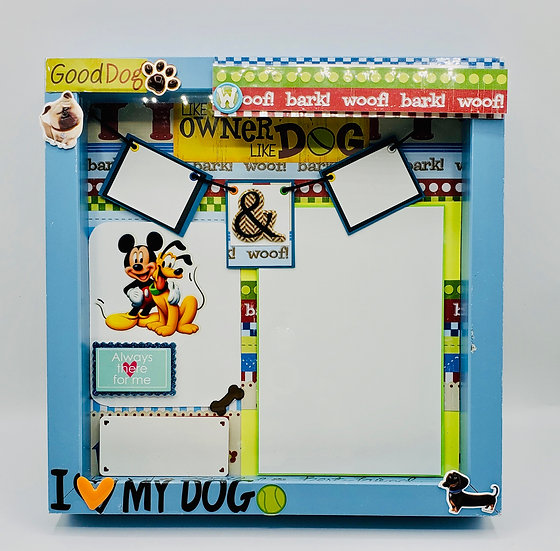 I Love My Dog/Woof!Bark!Dog! Scrapbooking Framed Design Gift