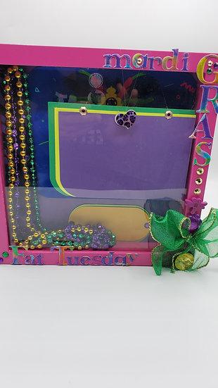 Mardi Gras Fat Tuesday Scrapbooking Framed Design Gift