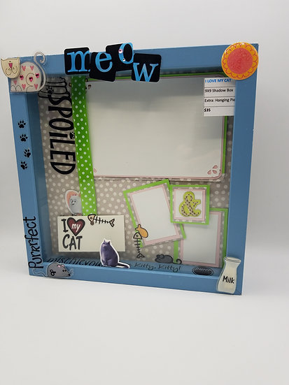 I Love My Cat/Spoiled Purrfect Cat Scrapbooking Framed Design Gift