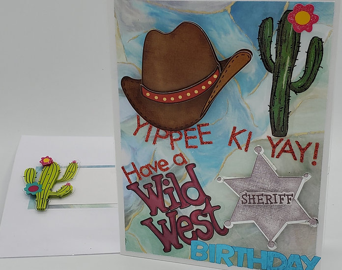 Yippee Ki Yah! Have a Wild West Birthday Greeting Card