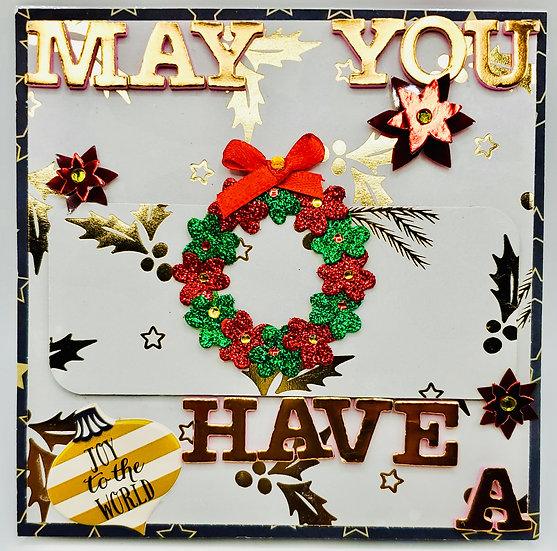 May You Have A Joyful Merry Christmas and Joy To The World Greeting Card