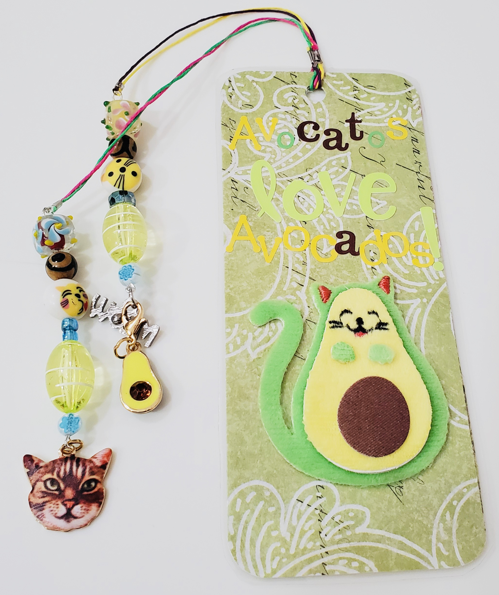 """Avocatos Love Avocados"" Bookmark The Lofty Dragonfly Design"