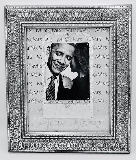 A Love Story Mr. & Mrs. Scrapbooking Frame Design