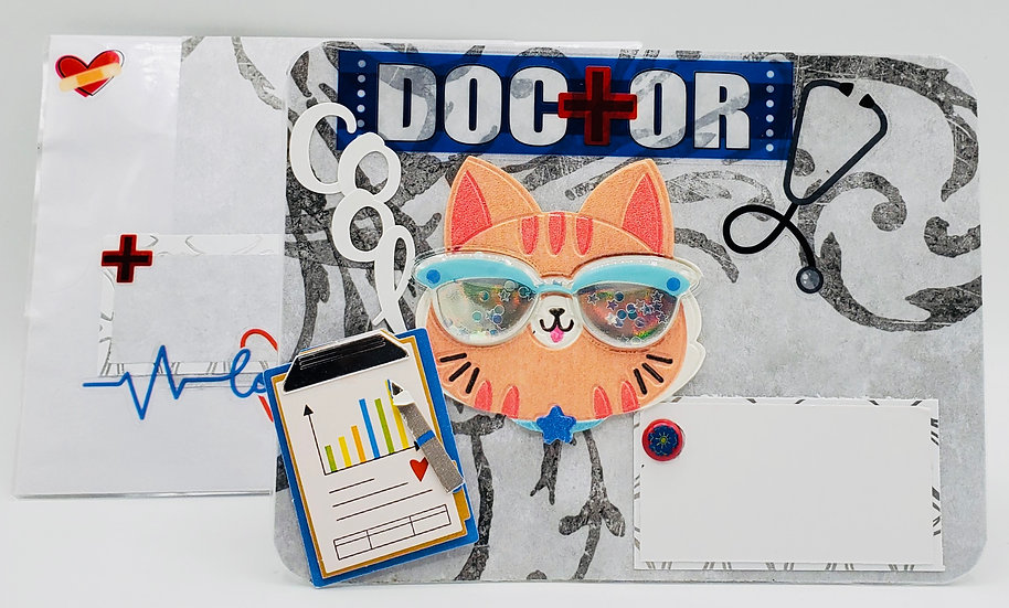 Doctor Cool Cat Greeting Card/Thank You Card For a Doctor
