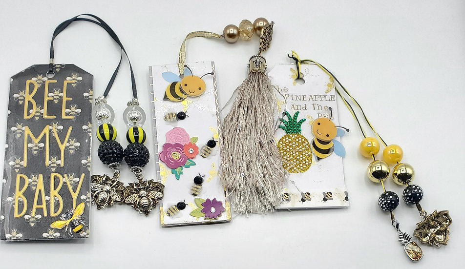3 Bees Bookmarks: Bee My Baby/Bee Your Best Everyday/The Pineapple & The Bee