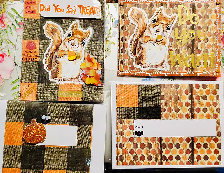 "2 Squirrel Fall Cards: Did You Say ""Treat?"" & ""Do You Want Nuts With That Whine?"