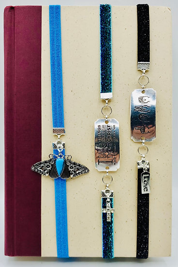Blue Moth, I Can Do All Things (Philippians 14:3)/Love (Sign Language) Bookmarks