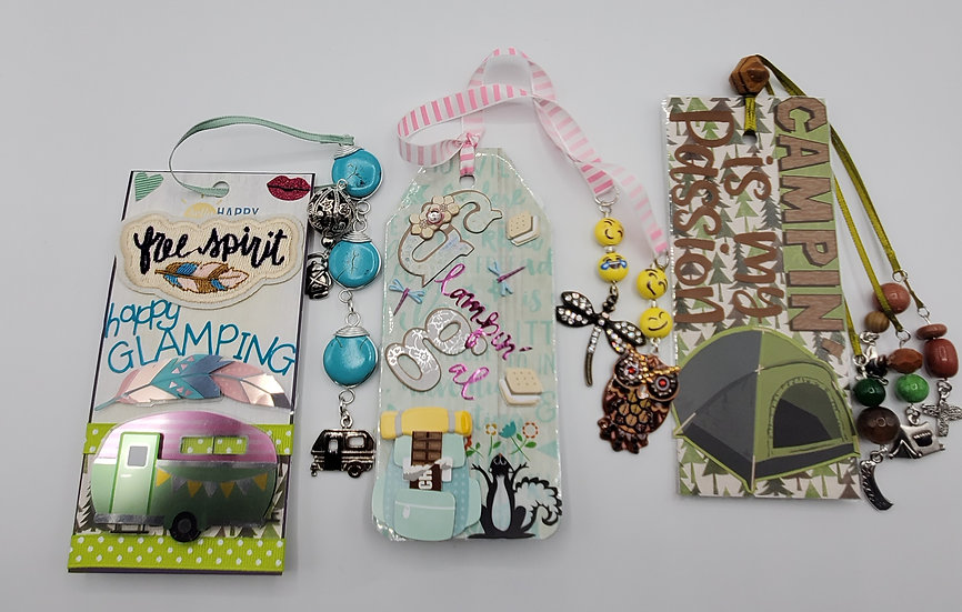 3 Glamping & Camping Bookmarks/Happy Glamping/Glampin'Gal/Camping Is My Passion