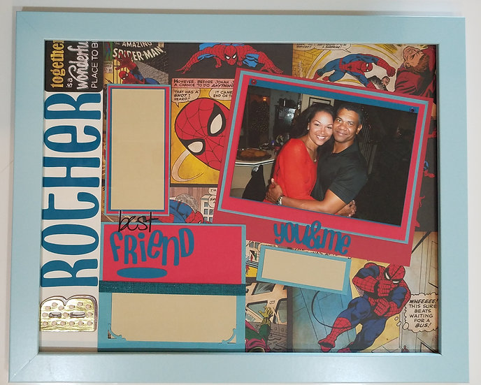 Spiderman-Brother/Best Friend Scrapbooking Framed Design Gift