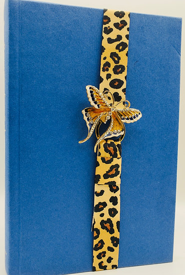 Swallowtail Butterfly Leopard Print Ribbon Bookmark Gift